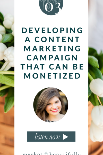 Episode 03 Developing a Content Marketing Campaign that can be Monetized