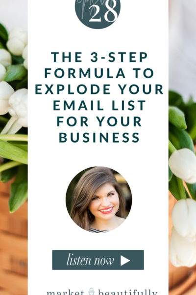 Episode 28 3 Step Formula to Explode Your Email List