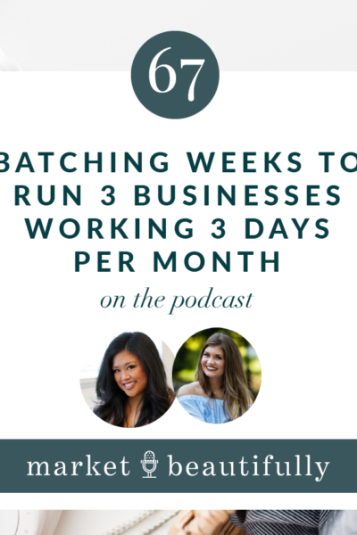 067: Batching weeks to run 3 businesses working 3 days per month